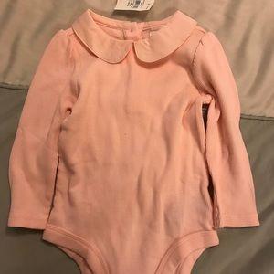 Pink collared onesie